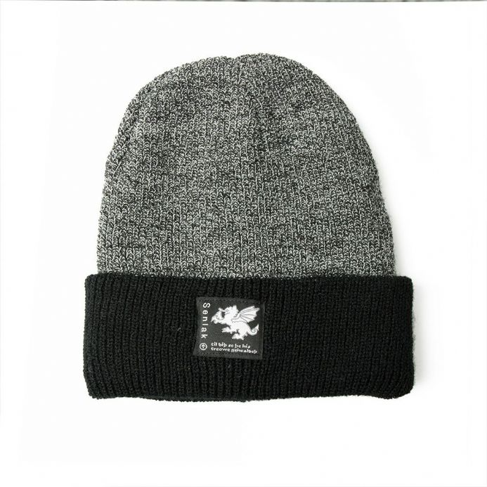 Senlak Heritage Anglo-Saxon Beanie - Antique Grey and Black